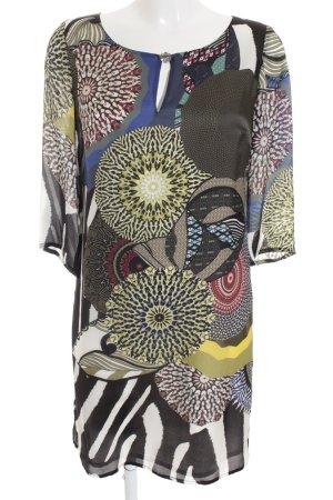 Luisa Cerano A-Linien Kleid abstraktes Muster extravaganter Stil