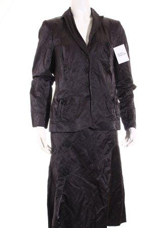 Luisa Cerano Anzug schwarz extravaganter Stil