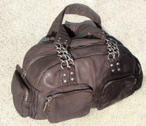 Luisa Cerano Carry Bag grey brown leather