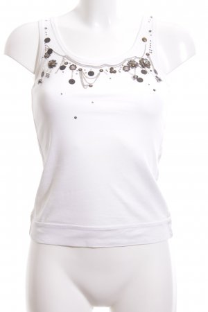 Luisa Cerano Basic Top weiß-bronzefarben Casual-Look