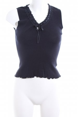 Luisa Cerano Basic Top blau Casual-Look