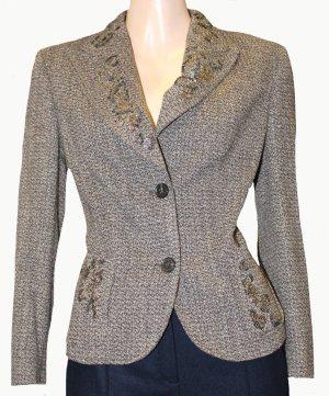Luisa Cerano Blazer en laine brun-gris
