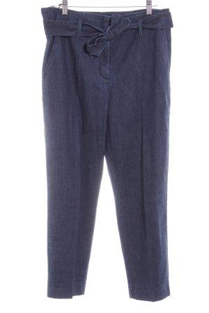 Luisa Cerano Pantalon à pinces bleu foncé style décontracté