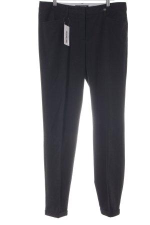 Luisa Cerano Pantalon à pinces noir style décontracté