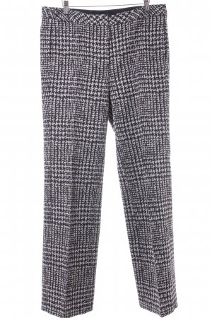Luisa Cerano Pleated Trousers black-cream houndstooth pattern business style