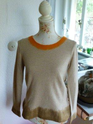 Luisa Cerano Cashmere Wolle Beige Orange Gr. 38 NEU