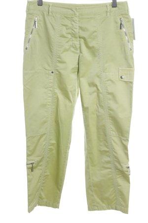 Luisa Cerano Pantalon taille haute jaune citron vert style mouillé