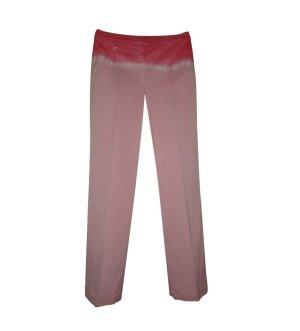 Luisa Cerano Hose Baumwolle Stretch Baumwollstretch Gr. 38 koralle rosa weiß neu