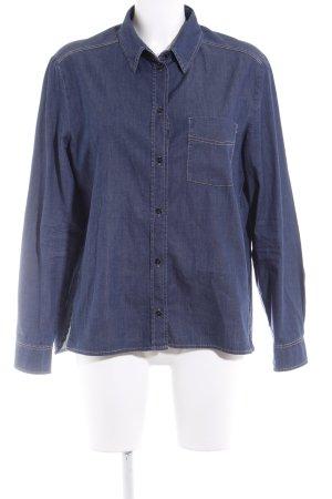 Luisa Cerano Jeanshemd beige-dunkelblau Jeans-Optik