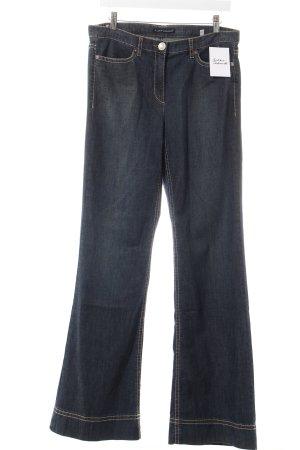 Luisa Cerano Jeansschlaghose dunkelblau Retro-Look