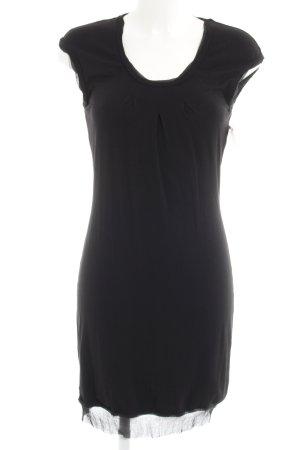 Luisa Cerano Vestido de tela de jersey negro look casual