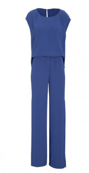 Luisa Cerano Jumpsuit, blau, Größe 38 - Neuwertig