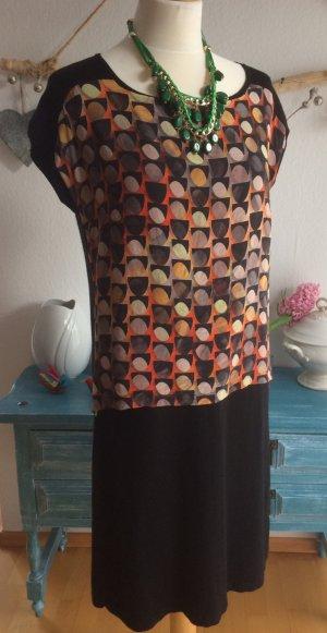 Luisa Cerano Kleid mit Seide schwarz Größe 42