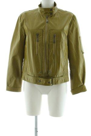 Luisa Cerano Faux Leather Jacket khaki casual look