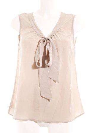 Luisa Cerano Kurzarm-Bluse beige klassischer Stil
