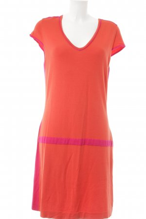 Luisa Cerano Kurzarmkleid dunkelorange-magenta Colourblocking Casual-Look