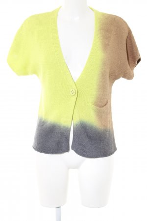 Luisa Cerano Short Sleeve Knitted Jacket color gradient casual look