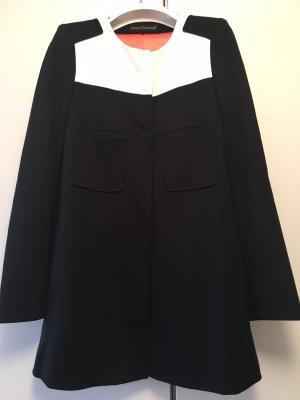 Luisa Cerano Short Coat black-natural white