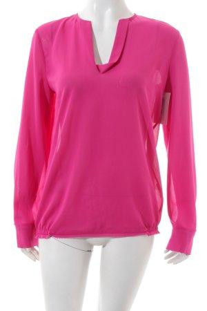 Luisa Cerano Langarm-Bluse pink schlichter Stil