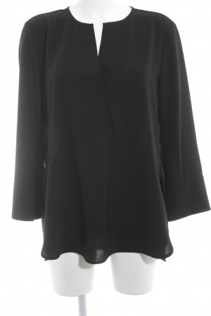 Luisa Cerano Langarm-Bluse schwarz klassischer Stil