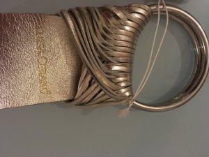 Luisa Cerano Cinturón de cuero color oro