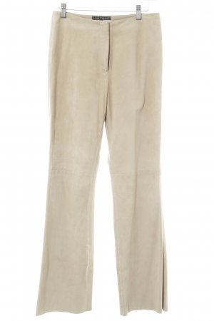 Luisa Cerano Leather Trousers beige country style