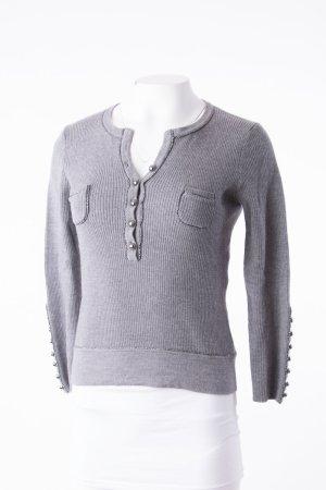 Luisa Cerano Cropped Shirt grey wool