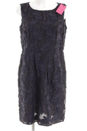Luisa Cerano Midi Dress dark blue-black flower pattern Layered fabric detail