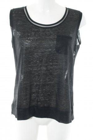 Luisa Cerano Muscle Shirt black flecked casual look