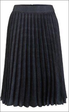 Luisa Cerano Pleated Skirt dark blue polyester