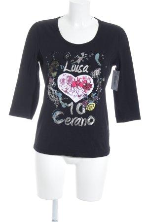 Luisa Cerano Print-Shirt schwarz Motivdruck Casual-Look