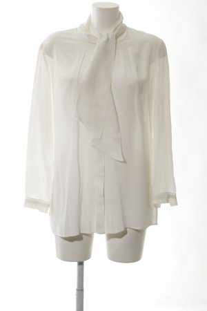 Luisa Cerano Blusa collo a cravatta bianco sporco elegante