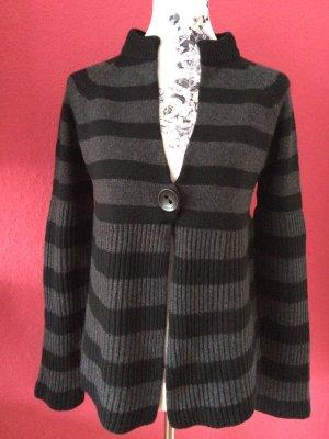 Luisa Cerano schwarz-graue Wollstrickjacke