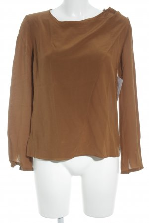 Luisa Cerano Zijden blouse brons casual uitstraling