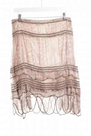 Luisa Cerano Seidenrock hellbeige-taupe Allover-Druck Casual-Look