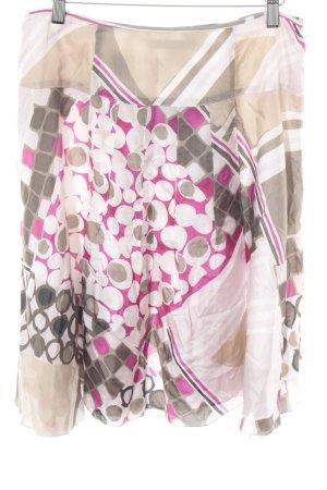 Luisa Cerano Zijden rok gestippeld patroon gelaagde uitstraling