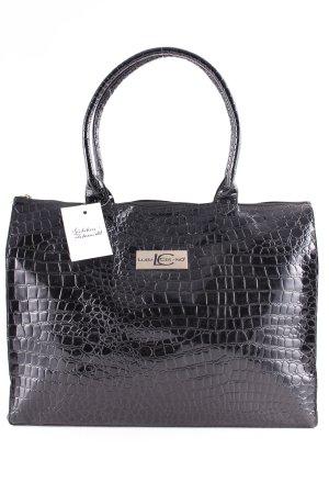 Luisa Cerano Shopper black-gold-colored animal pattern elegant