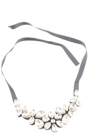 Luisa Cerano Statement Necklace black-cream glittery