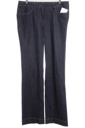 Luisa Cerano Straight-Leg Jeans dunkelblau Street-Fashion-Look