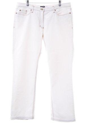Luisa Cerano Straight-Leg Jeans weiß schlichter Stil