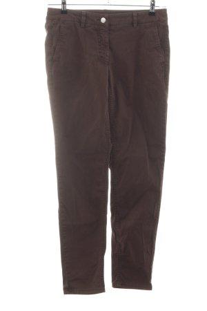 Luisa Cerano Stretch broek bruin casual uitstraling