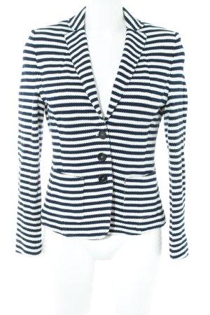 Luisa Cerano Knitted Blazer white-blue striped pattern business style