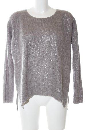 Luisa Cerano Pull tricoté argenté motif rayé style décontracté