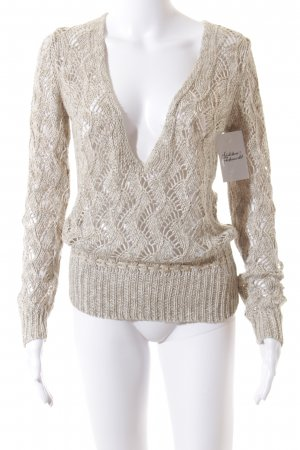 Luisa Cerano Knitted Sweater oatmeal casual look