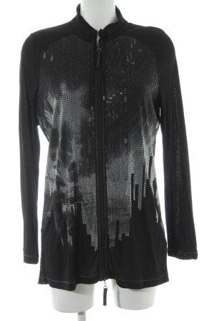 Luisa Cerano Sweatjacke schwarz abstraktes Muster Casual-Look