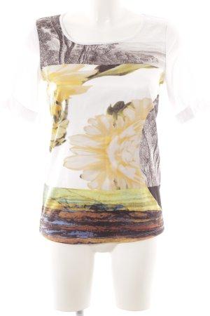 Luisa Cerano T-Shirt Blumenmuster schlichter Stil