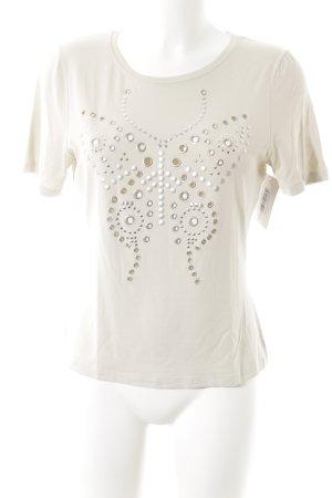Luisa Cerano T-Shirt hellbeige Nietenelemente