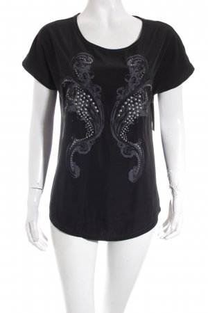 Luisa Cerano T-Shirt schwarz Motivdruck Casual-Look