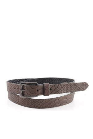 Luisa Cerano Waist Belt bronze-colored allover print business style