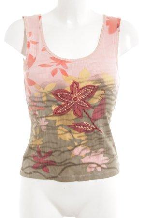 Luisa Cerano Tank Top floral pattern casual look